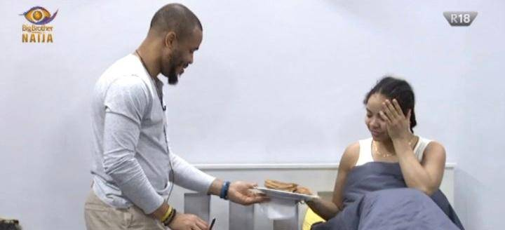 BBNAIJA UPDATE: What A Man - Reactions Follow What Ozo Did For Nengi In Bed This Morning (Video)