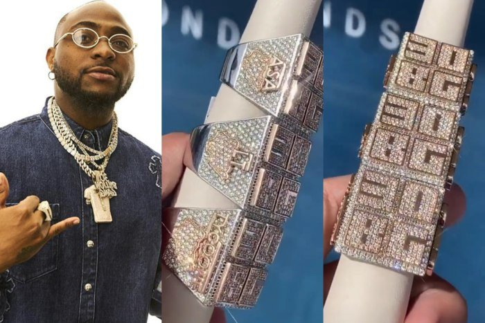 Davido Buys Custom-Made Ice Rings For His Manager And Two Other Crew Members (Photos)