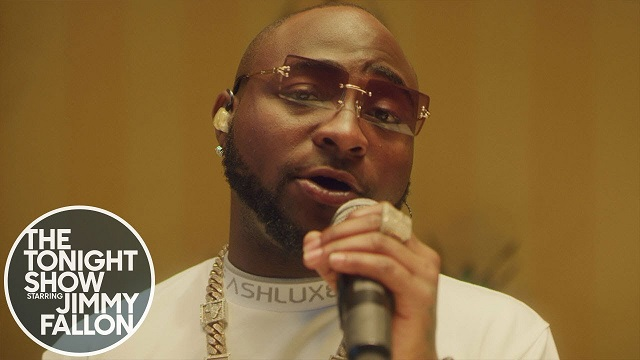 Davido performs D&G/Fall at The Tonight Show (Watch Video)