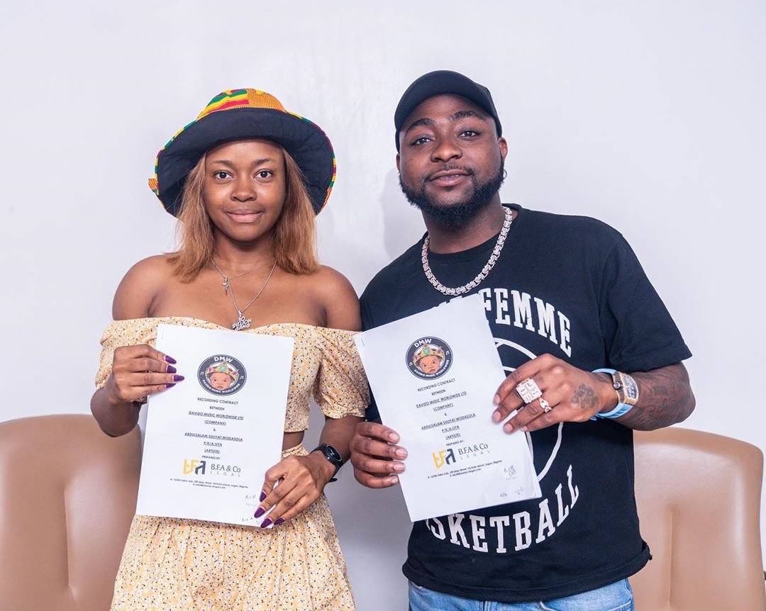 Davido Signs LIYA As DMW's First Lady (Photos)