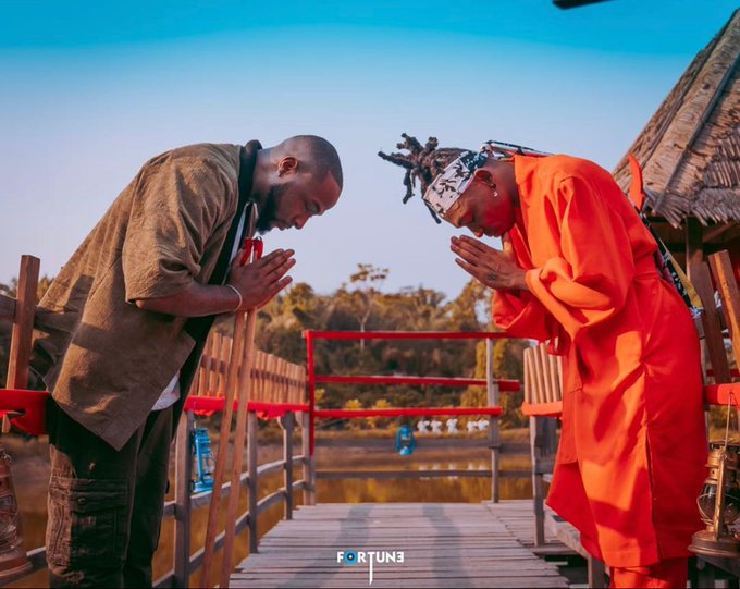 Davido Trains Mayorkun To Be A Samurai In Their 'The Best'