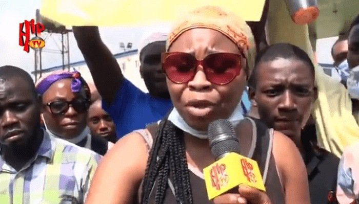 "EndSARS: ""We Will Tackle Him, He Has Been A Bad Boy"" – 21-yr-old Nigerian Lady Slams Buhari (Video)"
