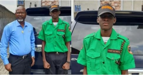 Nigerian Father Employs His Son As Security Man In His Company
