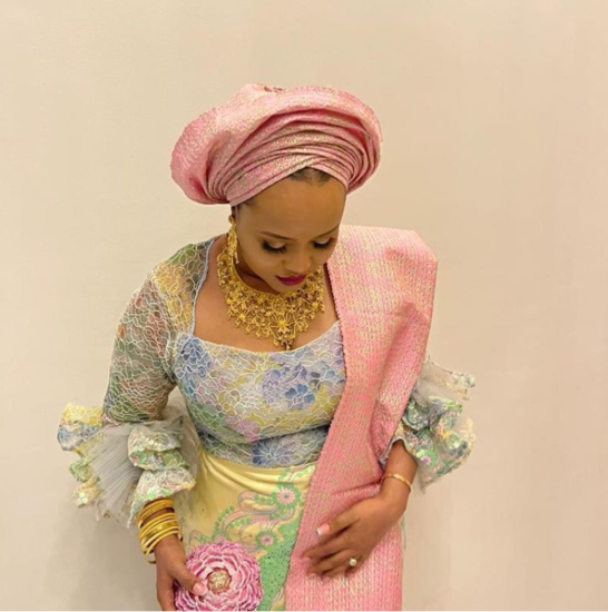 Oba Elegushi's second wife steps out with N3m clutch bag