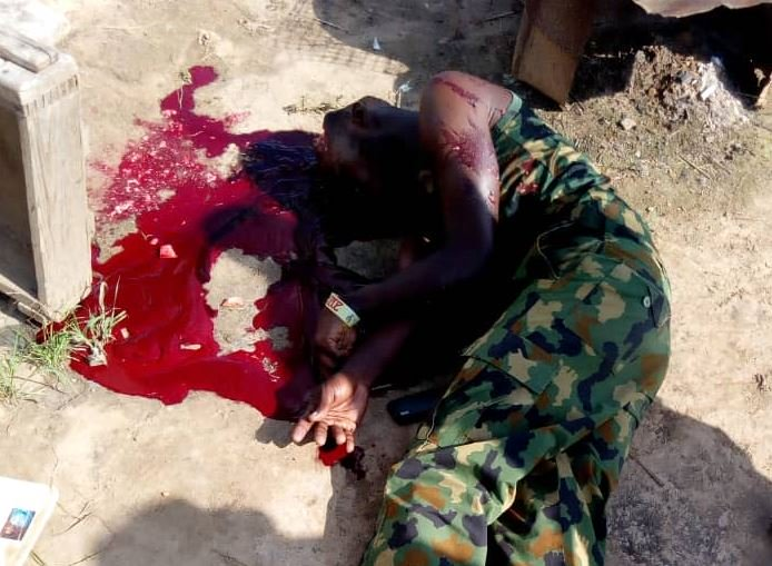 OMG!! Soldier Commits Suicide In Yobe. Leaves Note For Wife (Graphic Photos)