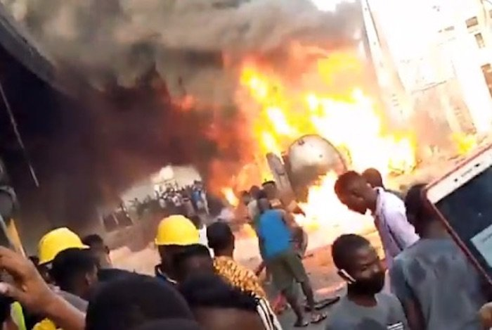 SHOCKING! Protesters Set Edo Police Station Ablaze (Watch Video)